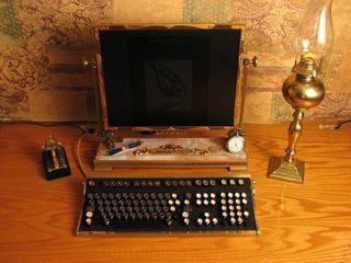 Steampunk Desktop Computer