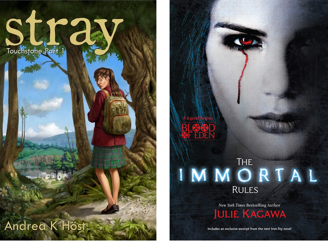 Stray by Andrea K. Höst and The Immortal Rules by Julie Kagawa
