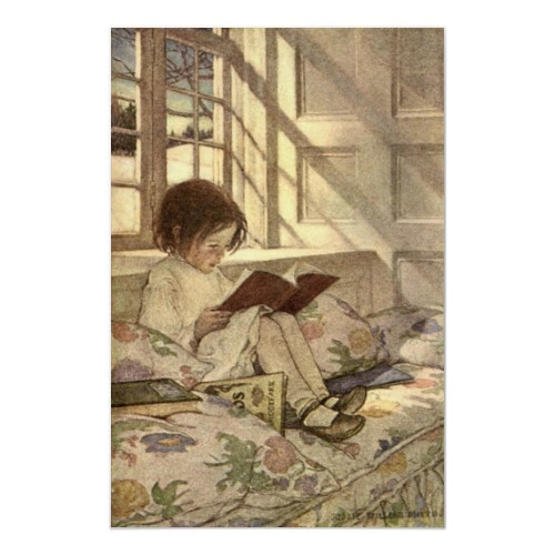 Child Reading a Book by Jessie Willcox Smith